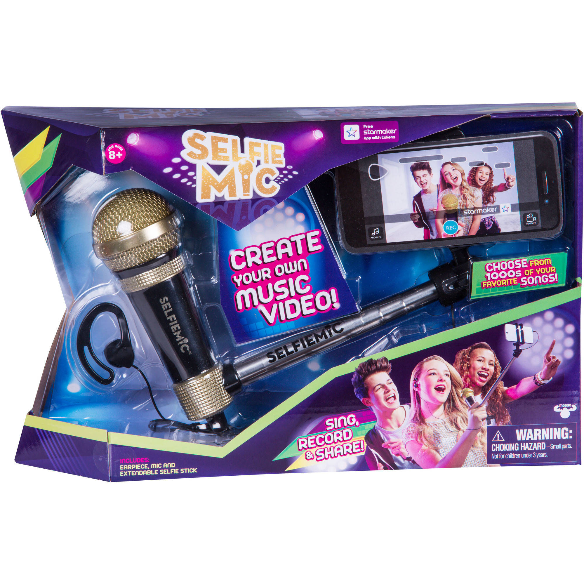 SelfieMic with Adjustable Selfie Stick