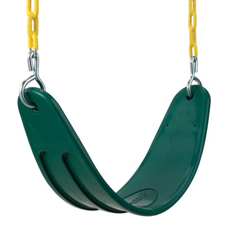 Aftermarket Arm Chain Slide - Swing-N-Slide Extra-Duty Green Swing Seat with Coated Chains