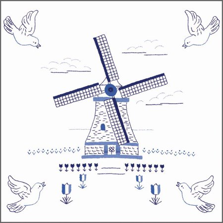 Herrschners® Dutch Windmill Quilt Blocks Stamped Embroidery