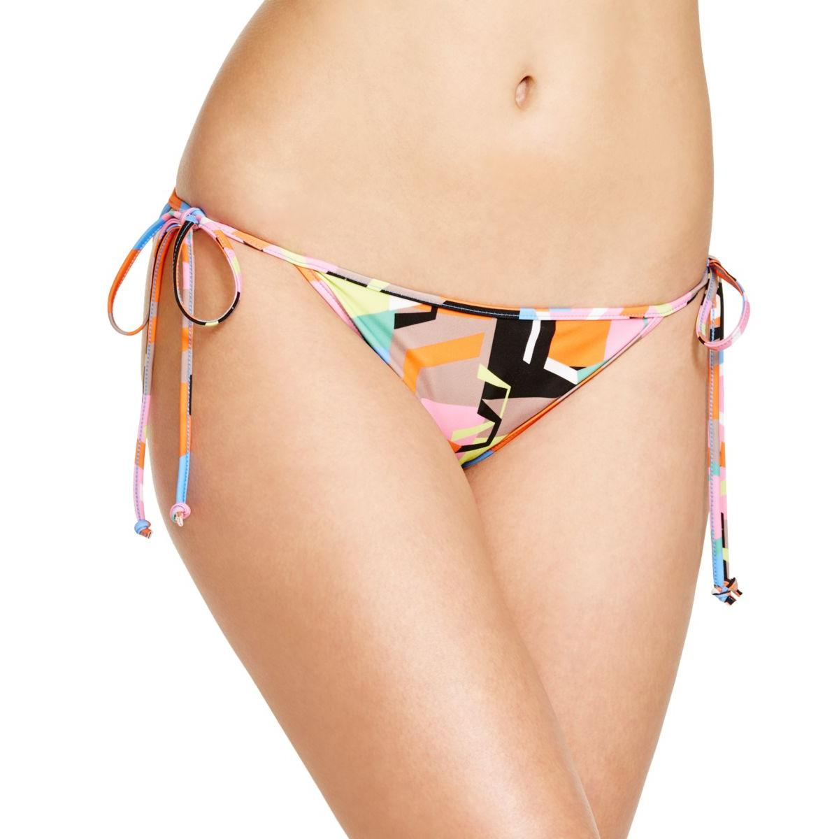 MILLY Womens Printed Side Tie Swim Bottom Separates