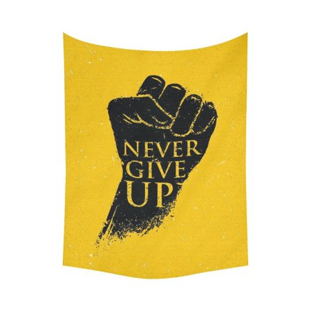 GCKG Never Give Up Poster Inspirational Quotes Tapestry Wall Hanging ...