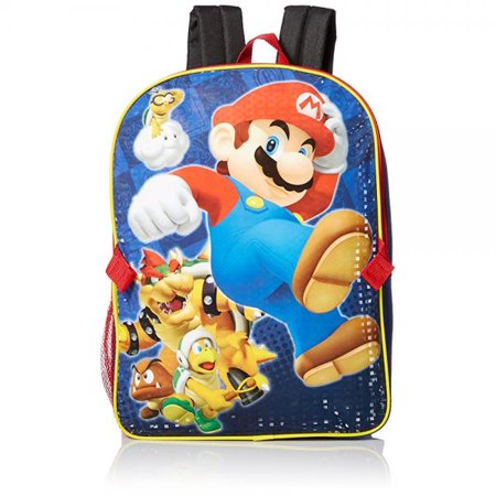 7acd85e7b2 Super Mario - Mario Backpack with Lunch Box - Walmart.com