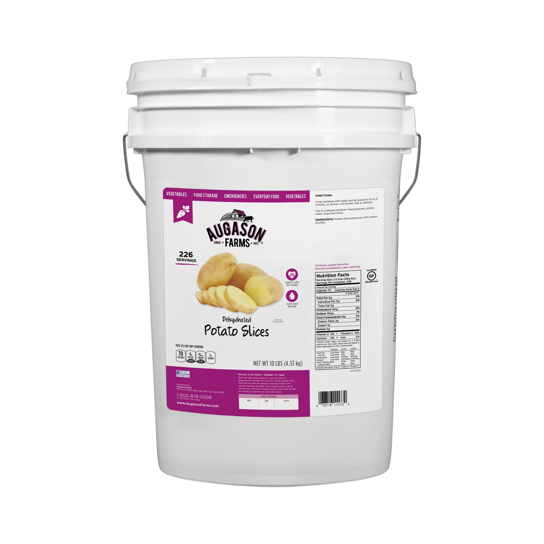 Augason Farms Dehydrated Potato Slices, 10 lbs