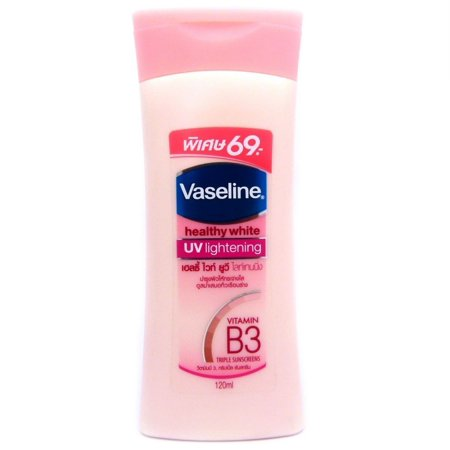 Vaseline Healthy White Skin Lightening Lotion with UV Whitening B3 Vitamin 100ml (pack of (The Best Whitening Lotion)