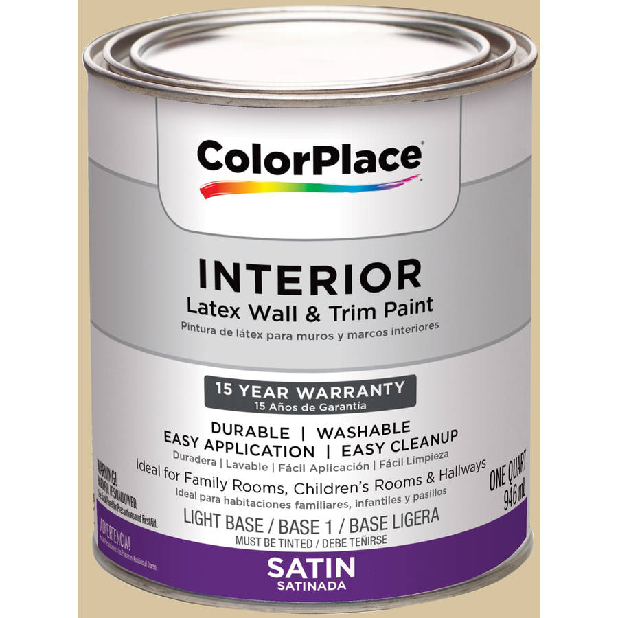 ColorPlace, Interior Paint, Prairie House Cream, # 30YY 60/205, Satin, Quart