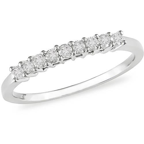 1/4 Carat T.W. Diamond Semi-Eternity Ring in 10kt White Gold