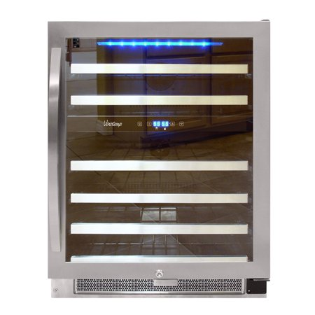 46-Bottle Dual-Zone Connoisseur Series Wine Cooler (Best Cooler For Atv)