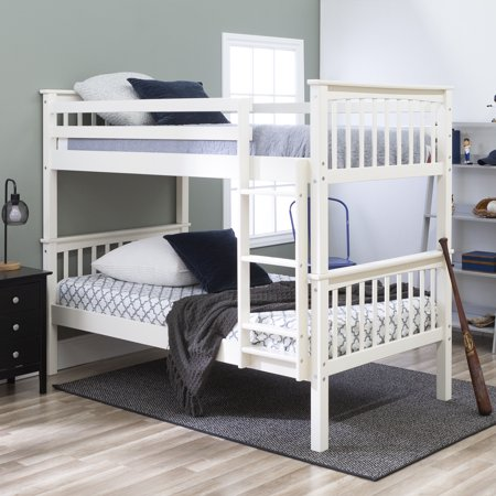 Manor Park Solid Wood Twin Over Twin Mission Design Bunk