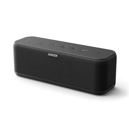 Anker SoundCore Boost 20-Watt Portable Rechargeable Bluetooth Wireless Speaker with BassUp Technology, 12h Playtime, IPX5 Water-Resistant, and Superior Sound & Bass, Black (New Open