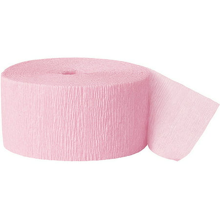 (2 pack) Pastel Pink Crepe Paper Streamers, 81ft - Crepe Paper Streamers