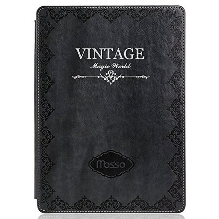 Mosiso - Classic Retro Book Style Smart Case for iPad Air 2 (2nd Gen.) - Slim-Fit Multi-angle Stand Sleeve Cover,
