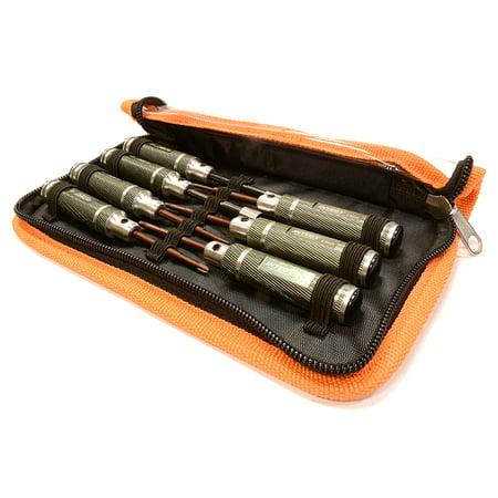 Integy RC Toy Model Hop-ups C25381GUN 7pcs Mini Tool Set, 1.5, 2.0, 2.5mm Allen + 4.0, 5.5 Socket + Screw Driver