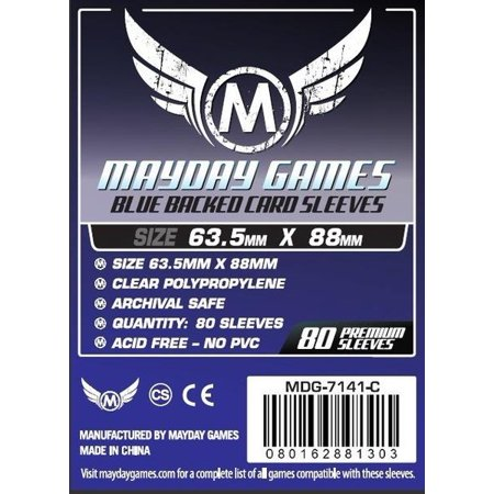 Mayday Games: 80-Count Blue Deck Protector Sleeves for Magic, Pokemon Cards - Pokemon Cosplay For Sale