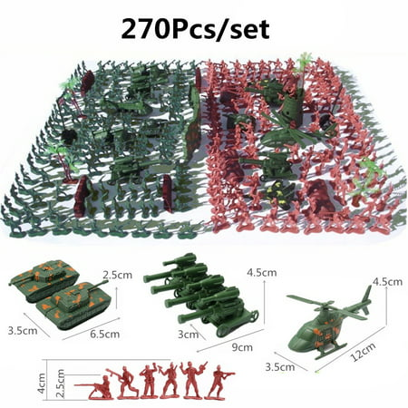 270 pcs Military Playset Plastic Toy Soldier Army Men 4cm Figures & Accessories - image 12 of 12