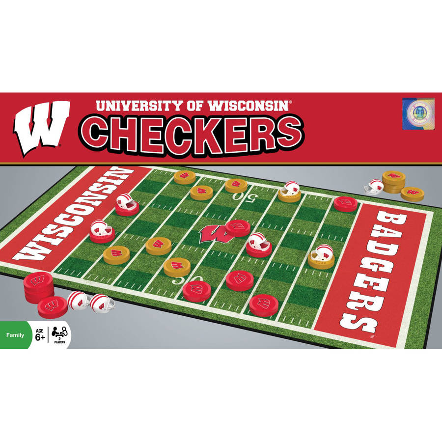 NCAA Wisconsin Badgers Team Checkers by Generic