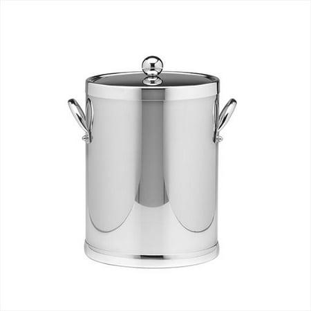 Kraftware 70042 Polished Chrome 5 Quart Ice Bucket With Metal Side Handles - image 1 of 1
