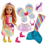 Barbie Rainbow Cove Chelsea Dress Up Doll with 3-Themed Outfits