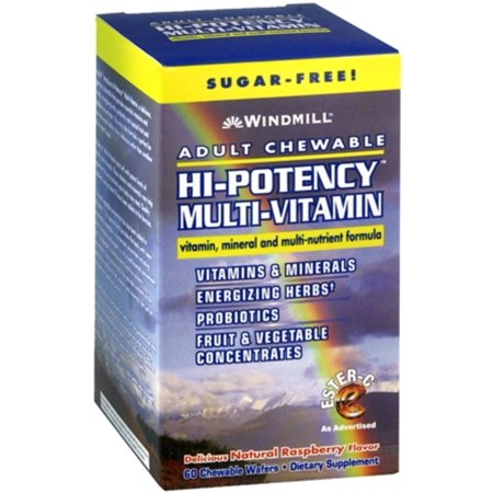 Windmill Hi-Potency Multi-Vitamin Tablets Adult Chewable 60 Tablets (Pack of 6)