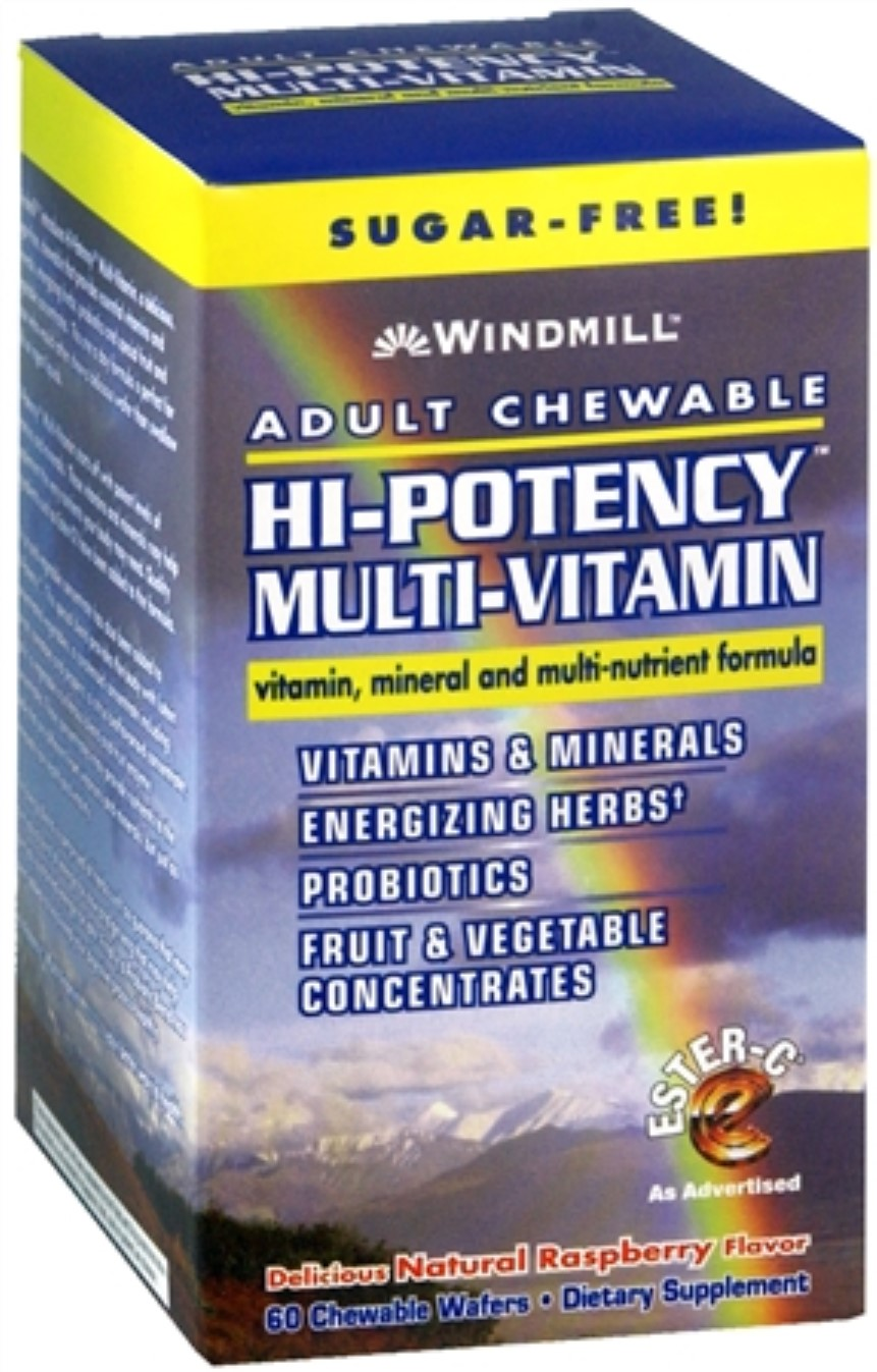 Windmill Hi Potency Multi Vitamin Tablets Adult Chewable 60 Tablets (Pack  Of 4