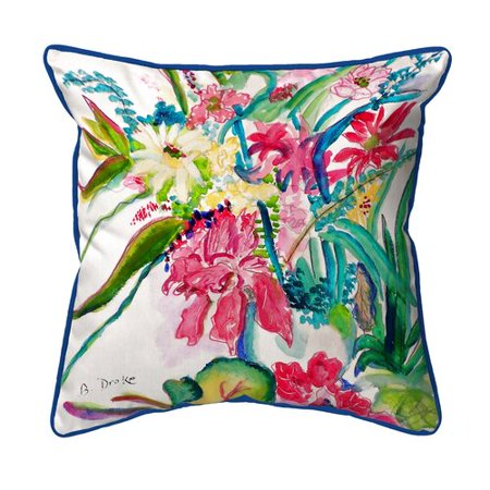Betsy Drake Interiors Multi Fls Indoor Outdoor Throw Pillow