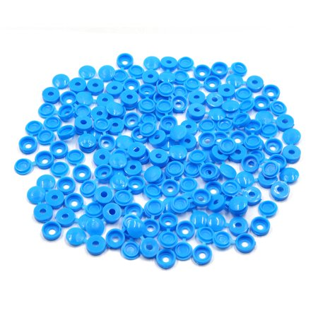 100pcs Blue Plastic Universal Car Decoration Screws Bolts Nuts Cap Covers 4mm - image 3 of 3