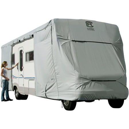 00 Permapro Cover (OverDrive PermaPRO Deluxe Class C RV Cover, Fits 20' - 38' RVs - Lightweight Ripstop and Water Repellent RV Cover )