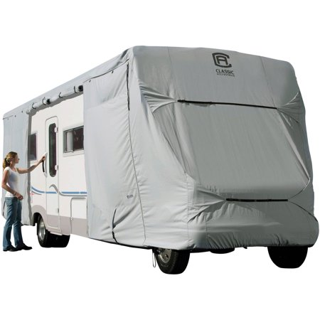 OverDrive PermaPRO Deluxe Class C RV Cover, Fits 20' - 38' RVs - Lightweight Ripstop and Water Repellent RV