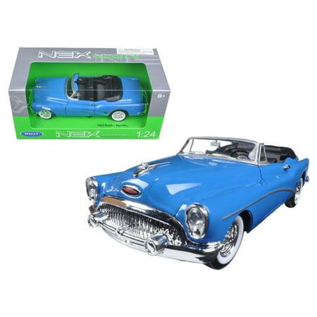 1972 Buick Skylark (1953 Buick Skylark Convertible Blue 1/24 Diecast Model Car by Welly)
