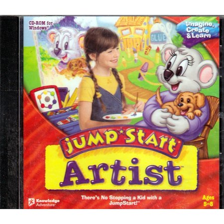 JUMPSTART ARTIST Classic PC CDRom - Bring out the artist in your child - There's no stopping a kid with a Jump