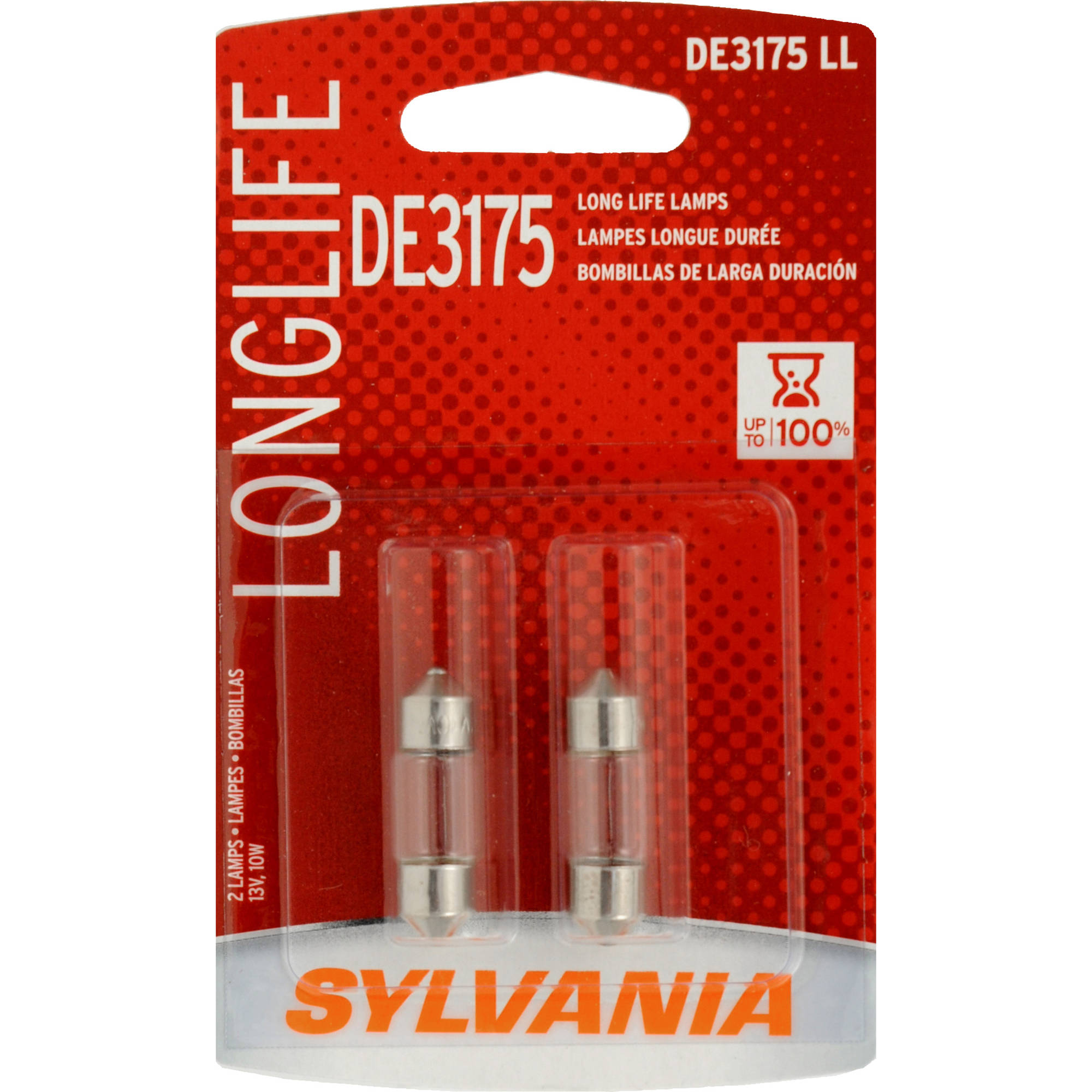 Sylvania DE3175 Long-Life Miniature Bulb, Twin Pack