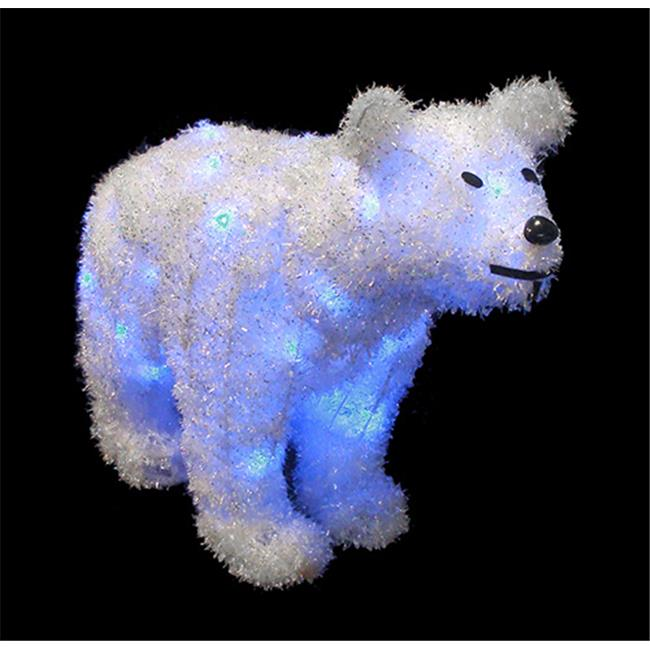 NorthLight 24 in. Battery Operated LED Lighted Tinsel Pol...
