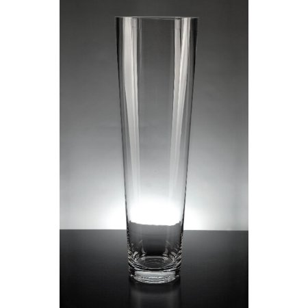 4 Pieces Of Tapered Clear Glass Cylinder 45 X 16 Vases Walmart