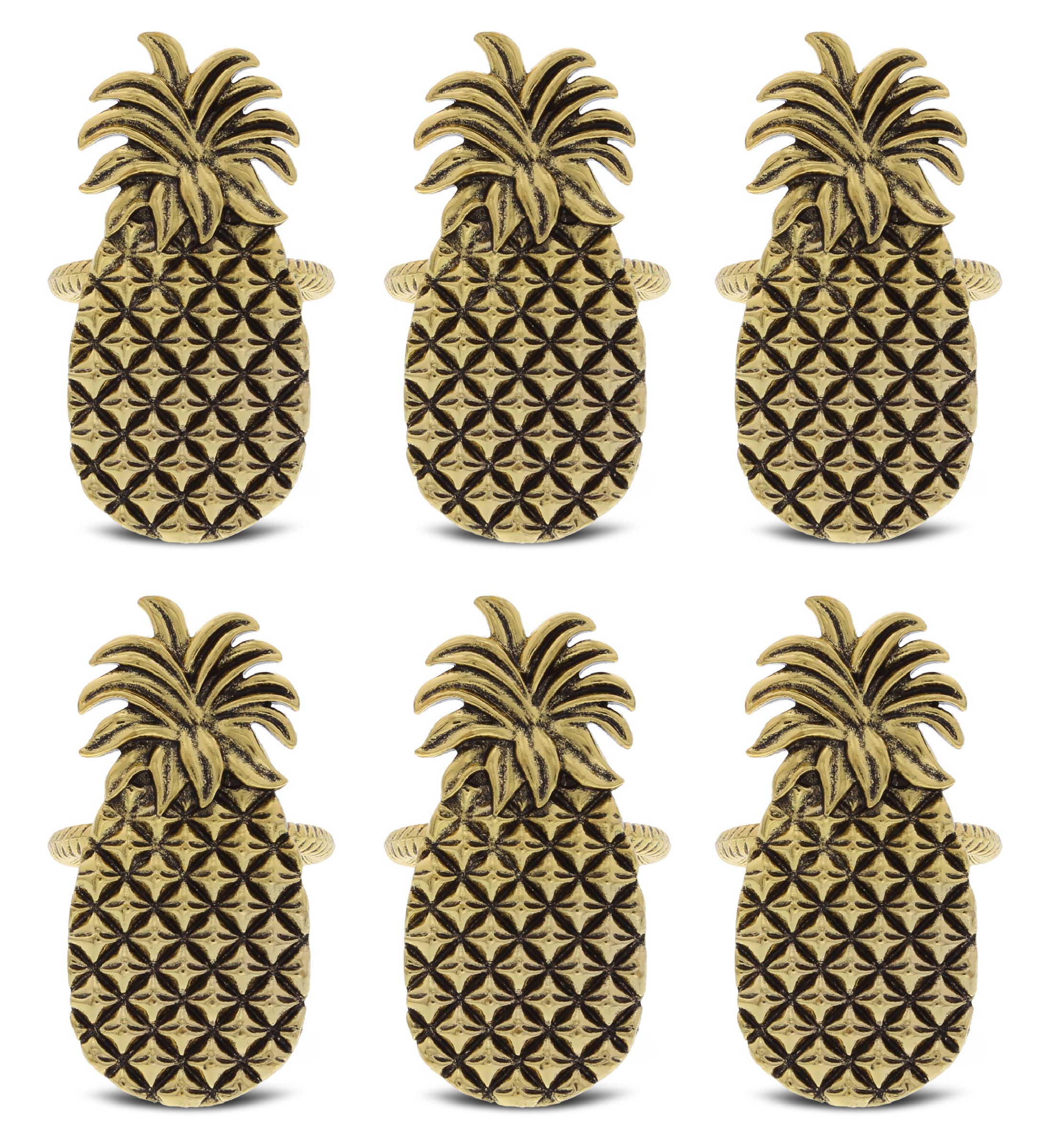 Kitchabon Gold Napkin Rings Set Of 6 Table Setting Centerpiece Decor Napkins Ring Holders Napkin Ring Packs For Family Holiday Dinner Fancy Banquet Wedding Decorations For Reception Pineapple Walmart Com