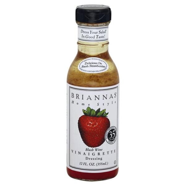 Briannas Home Style Blush Wine Vinaigrette Dressing - 12fl oz
