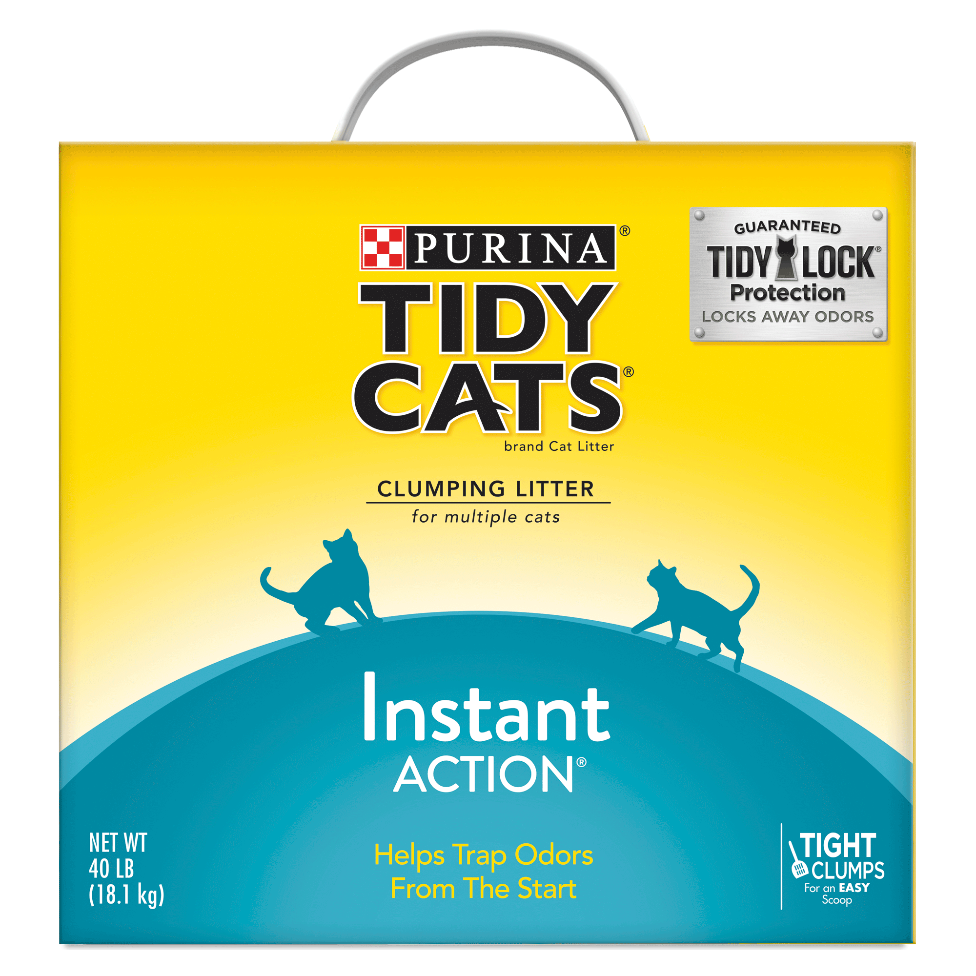 Purina Tidy Cats Instant Action Clumping Cat Litter - 40-lb