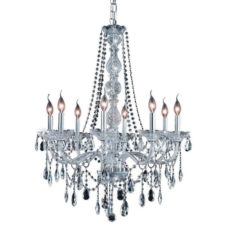 "Elegant Lighting Verona 28"" 8 Light Elegant Crystal Chandelier"