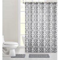 Mainstays Aster 15-Piece Shower Curtain Bath Set