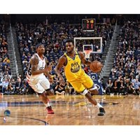 Andrew Wiggins Golden State Warriors Unsigned Dribbling vs. Washington Wizards Photograph