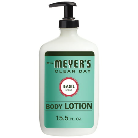 Clean Scented Body Lotion - Mrs. Meyer's Clean Day Body Lotion, Basil, 15.5 oz