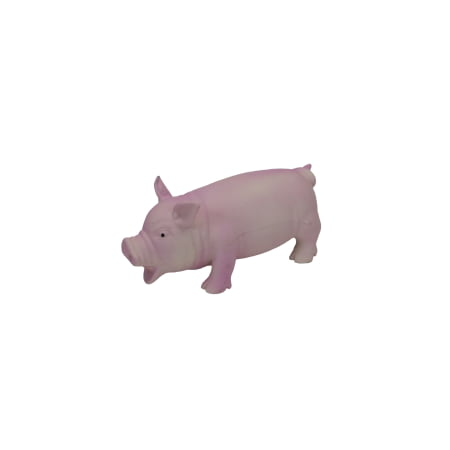 Coastal Pet Products Rascals 83052 R Pnkdog Latex Grunting Pig Dog Toy  Pink  7 1 2 Inch