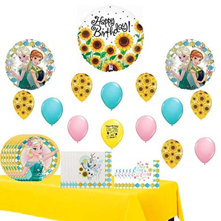 Frozen Fever Party Supply and Balloon Decoration Kit Bundle](Party City Frozen Decorations)