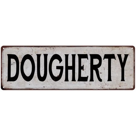 Dougherty Vintage Look Rustic Metal Sign Shabby Chic Family Name 6187098
