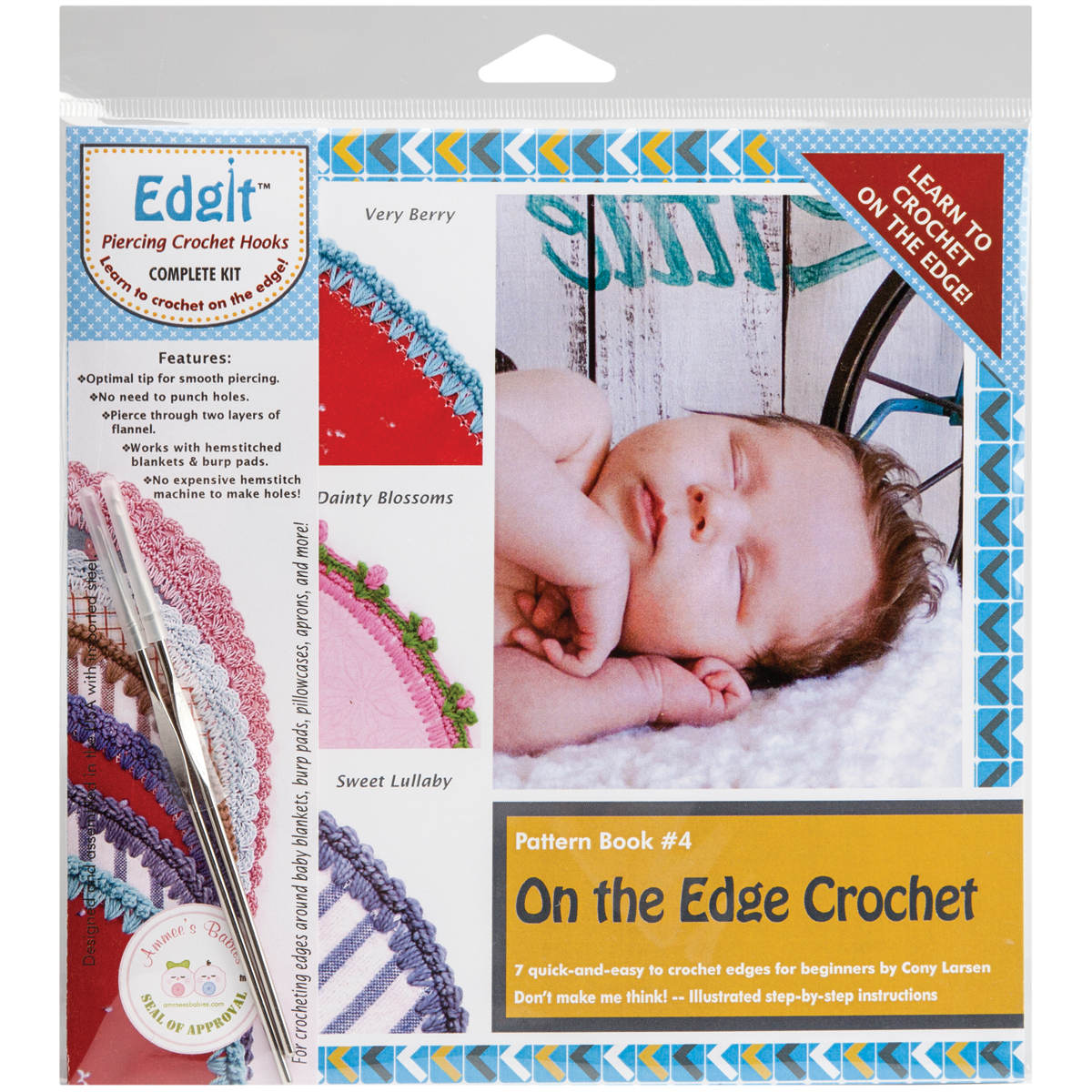 Edgit Piercing Crochet Hook & Book Set - On The Edge Crochet