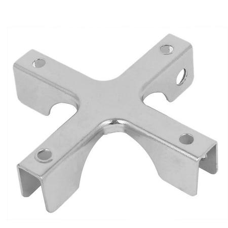 5mm-10mm Thickness Adjustable Glass Cross Shape Bracket Clip Clamp Holder