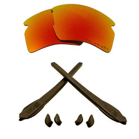 Replacement Lenses Accessories Compatible with OAKLEY FLAK 2.0 XL Red & Brown
