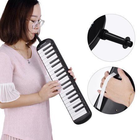 ammoon 37 Keys Melodica Pianica Piano Style Keyboard Harmonica Mouth Organ with Mouthpiece Cleaning Cloth Carry Case for Beginners Kids Musical Gift - image 7 of 7