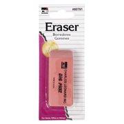 Charles Leonard Eraser - Pink Pencil - 1/Card 80791