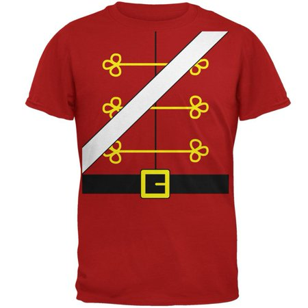 Toy Soldier Clothing (Christmas Toy Soldier Nutcracker Costume Mens Soft T)