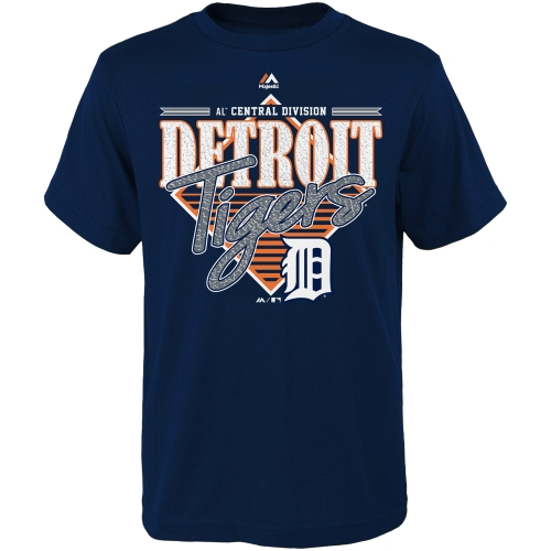 Majestic Detroit Tigers Youth Walk Off Homer T-Shirt - Navy Blue