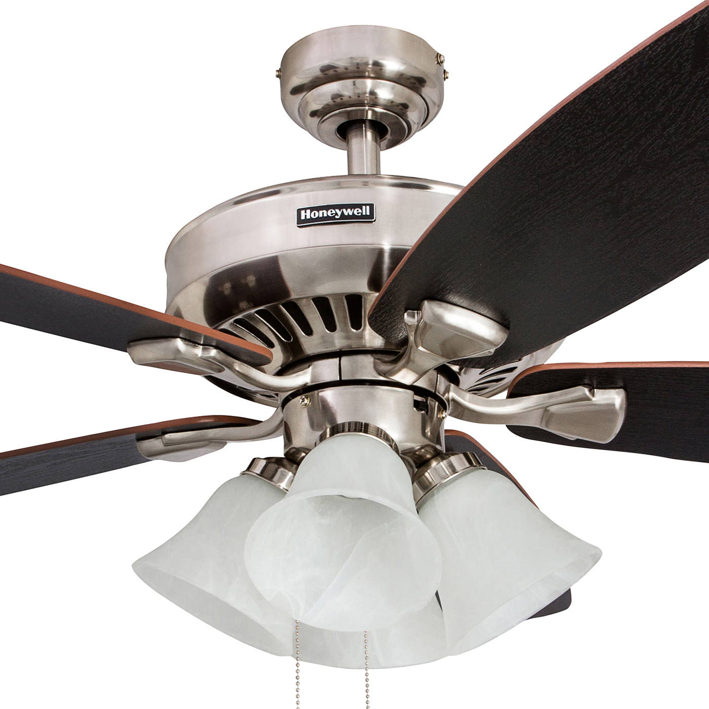 Wood Ceiling Fan 52inch 3 Leaf Led 40w Included With 2 Size Rod For Livingroom Bedroom Dinning Room And Digestion Helping Ceiling Fans